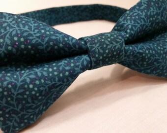 Men's Bow Tie, Bowtie, Blue, Floral