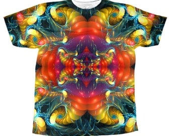 psychedelic t-shirt 3d fractal shirt crazy colorful modern fashion tshirts psychedelic