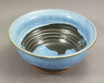 Pottery Bowl Rutile Blue - Green To Black ChunGTB34
