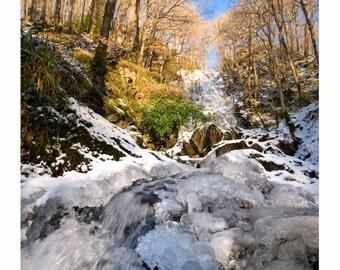Frozen Waterfall at Wood of Cree, Galloway