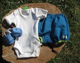 "Kit birth with bloomer ""Vertcorps"" 100% organic gift"