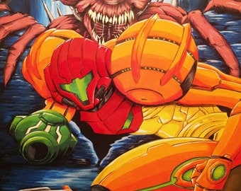 Metroid SNES original Poster