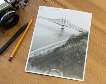 Szabadság Bridge – Analog, black and white, darkroom, photography, print