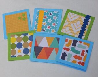 SET OF 6 mini cards