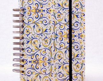 Writing Journal, Not Your Basic Journal! Spiral Bound, Christmas gift, gift for writer, Custom Divider Pocket Pages, Band Closure
