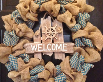 Welcome Wreath - Cheveron