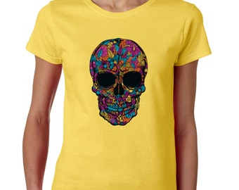 Sugar Skull Day of Dead Ladies T shirt