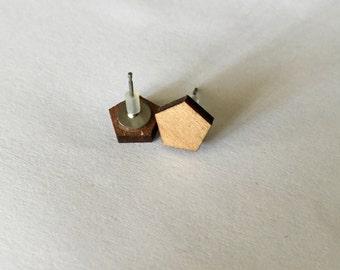 Wooden Studs Earrings