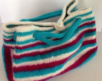 Felted  Knitting Bag