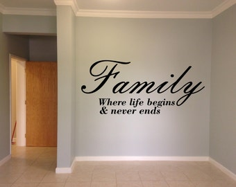 Awesome Custom family wall deecor vinyl decal