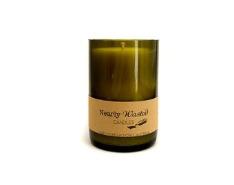 Lily & Rose - Nearly Wasted Candles - Upcycled Wine Bottle - Soy Wax Candle