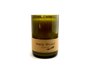 In Bloom - Nearly Wasted Candles - Upcycled Wine Bottle - Soy Wax Candle