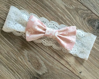Vintage pink lace band