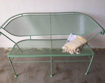 Gorgeous Sage Green Patio Love Seat