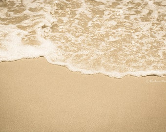 Seashore Photography, Seafoam, Art, Print, Home, Wall Decor, Beach, Shore, Summer, Beach House, Sepia, Bedroom