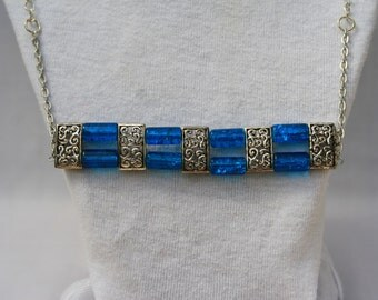 Blue and Silver Necklace 14-080115