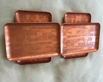 Mid Century Mod Mini Tray Set