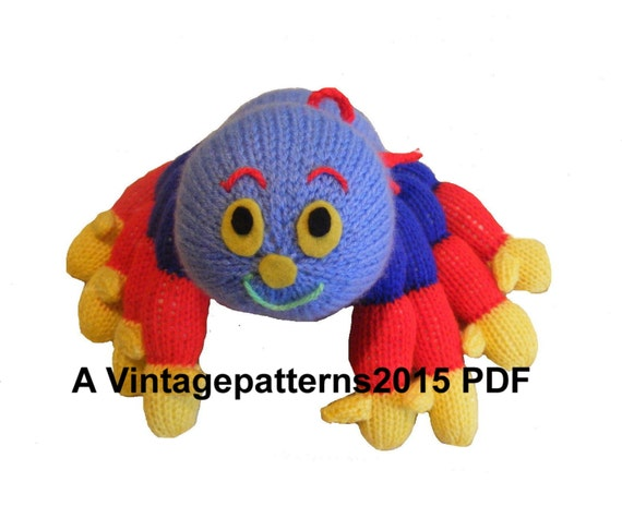 Woolly Spider Toy Knitting Pattern DK PDF by ...