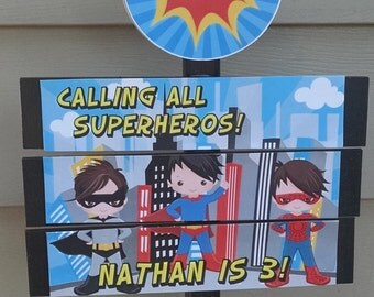 Superhero Yard Sign