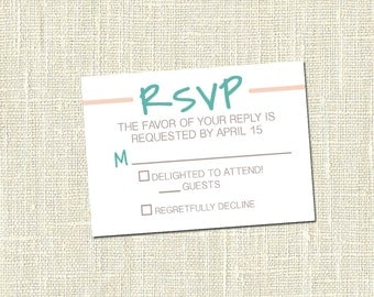 Simple RSVP Card - Printable
