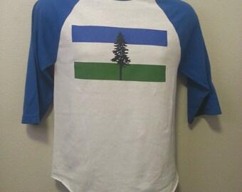 100% Cotton Republic of Cascadia Raglan Tee