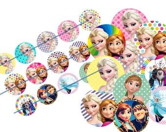 Frozen inspired bottlecap image ready to print bottle cap