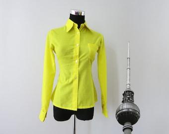 Original Vintage Shirt yellow taillored XXS
