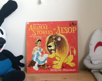 Disneyland Animal Stories of Aesop - 1970s Childrens Vintage Vinyl Record. DQ 1221