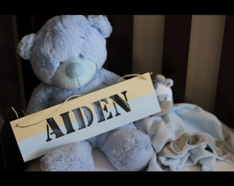 Large Custom Wooden Name Plaque. Timber is Available Raw or Painted. Perfect for Nursery Decor. Baby Boy Baby Girl Gift Idea.