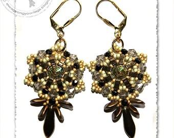 Kirina beaded earrings PDF pattern