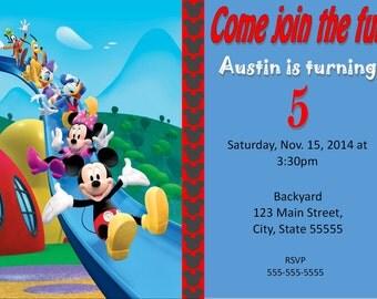 Mickey Mouse Clubhouse - Mickey Mouse Clubhouse birthday invitation