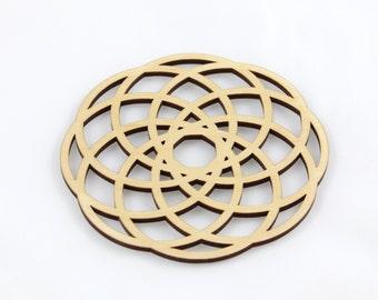 Spiral Cut Coaster (Wood or Acrylic)
