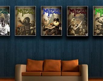 5 x Monkey Island Poster Set