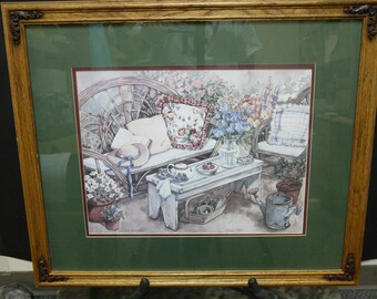 """Sandi Gore Evans """"Happy Place"""" Print #57/1,000 22.5"""" x 27"""" Framed & Matted"""