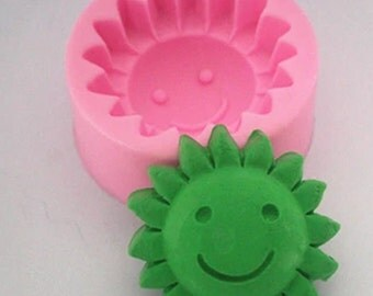 FM254 smiley flowers, soap molds, silicone mold, fondant mold, chocolate mold, lace mold, cake decoration mold