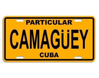 CAMAGUEY - Cuban Decorative License Plate