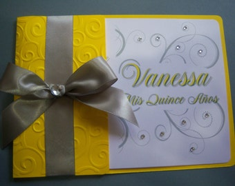 50 Swirl Invitations perfect for Quinceañera Birthday Party and Sweet 16 Any colors!