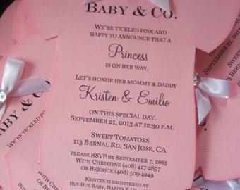 Baby Shower Tiffany Onesie Invitation Boy or Girl Announcment