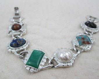 Vintage Bracelet Sarah Coventry Western Wear Cowgirl or Southwest Style Silver Tone