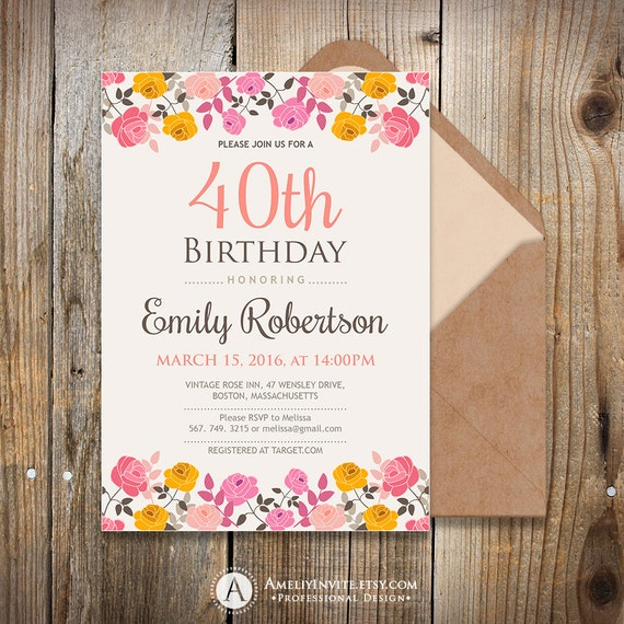 Items Similar To Adult Birthday Invitation Template, 50th
