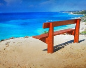Painted Beach View Art Print Digital Download Commercial Use
