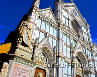 Italian Photography of Church in Florence, Italy