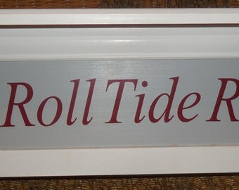 Alabama shelf,Alabama Crimson Tide gear, sports shelf, roll tide roll, collegiate theme gifts, Hanging shelf, Alabama nursery, Man Cave gift
