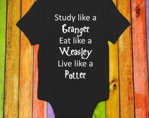 Potter, Granger, Weasley Wizard  made on adorable Onesies® brand Bodysuit, Toddler Shirt, Baby Shower Gift Funny Baby and toddler shirts