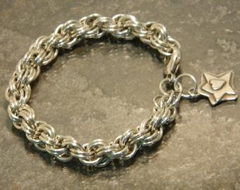 Chain mail bracelet