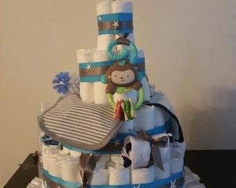Baby Diaper Cake- Stars