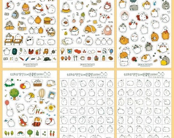 Molang diary etsy for Stickers murs deco