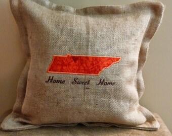 Tennessee Burlap Pillow
