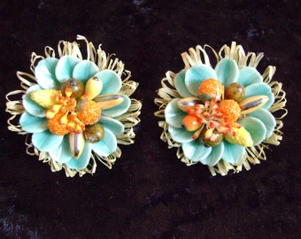 Colorful antique earrings