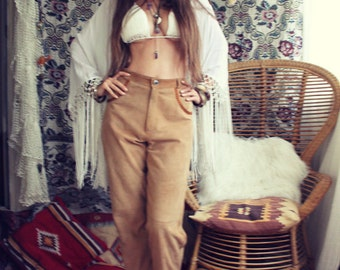 Miss Bohemian Vintage 70's suede trousers